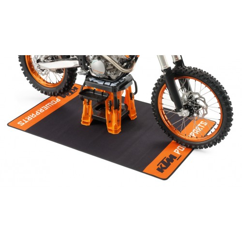 GENUINE KTM PIT MAT ORANGE/BLACK 160cm x 100cm