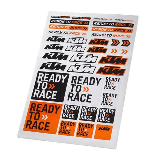 CORPORATE KTM LOGO STICKER SHEET