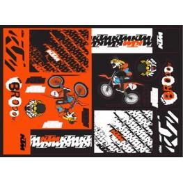 TEAM KTM  GRAPHIC STICKER SHEET