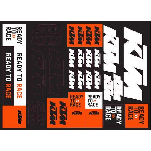 KTM TEAM LOGO STICKER SHEET