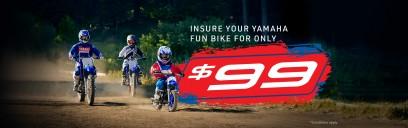 $99 Yamaha Fun Bike Insurance