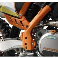 KTM FRAME GUARD SET ORANGE SX ALL 07-10 EXC / EXCF 08-11